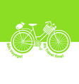 Picnic bicycle vector image vector image