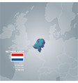 netherlands information map vector image