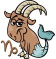 capricorn or the sea goat zodiac sign vector image vector image