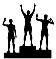 Winners podium vector image