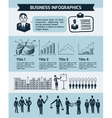 Sketch business people vector image