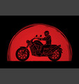 a man riding motorbike vector image