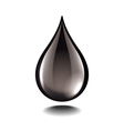 black oil droplet isolated vector image
