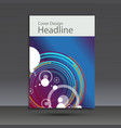 brochure design template cover abstract vector image