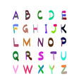 Hand Drawn Colorful Alphabet Set vector image