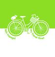 Picnic bicycle vector image