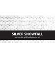 polka dot pattern set silver snowfall seamless vector image