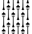 Old lantern silhouette seamless pattern vector image