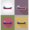 transport flat icons 64 vector image