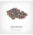 people map country Czech Republic vector image