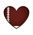 love american football icon vector image