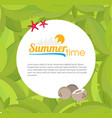 palm leaves frame for your text flat style vector image