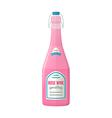 colored flat light pink sparkling wine lightning vector image
