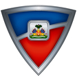 steel shield with flag haiti vector image vector image