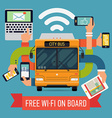 Free Wi-fi on Board Public Transport Poster vector image