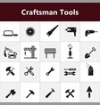construction tools icons vector image