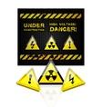 danger grunge background vector image