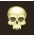 Halloween Skull in Cartoon Style on Dark vector image