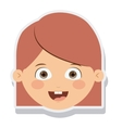 head little girl smiling isolated vector image
