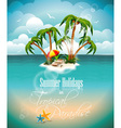 on a summer holiday theme with paradi vector image