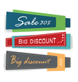 Set of colorful banners vector image