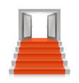 stair with open doors vector image