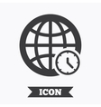 World time sign icon Universal time symbol vector image