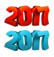 2017 digits vector image vector image