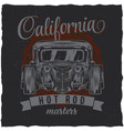 vintage t-shirt label design with customspeed car vector image