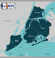 boroughs of new york city vector image