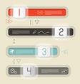 Retro Infographics Design vector image