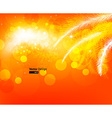 Bright Orange Christmas Background vector image