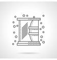 Bathroom mirror icon flat line design icon vector image
