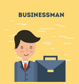 businessman briefcase vector image