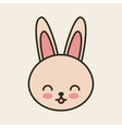 cute rabbit tender isolated icon vector image