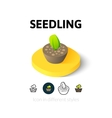 Seedling icon in different style vector image