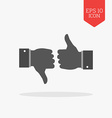 Thumb up and thumb down icon Like and dislike vector image