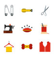 tailor icons set flat style vector image