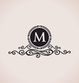 Luxury logo Calligraphic pattern elegant decor vector image