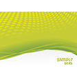 Green waves vector image