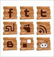 social bookmark signs vector image