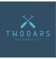 Two Oars Sign Monogram Logo in Minimalism Flat vector image
