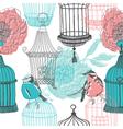 birdcage screenprints vector image