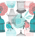 birdcage screenprints vector image vector image