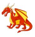 Cartoon red dragon posing vector image