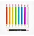 Color Pencil Set vector image