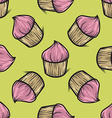 Cupcake Patterned Background vector image