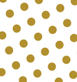 Gold and white polka dots pattern and texture vector image
