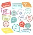 Modern flat design sale stickers Sale hipster vector image