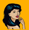portrait of beautiful young woman pin-up concept vector image